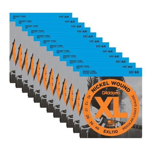 D'ADDARIO EXL110 Set di 12 Mute per Elettrica Regular Light (010/046)
