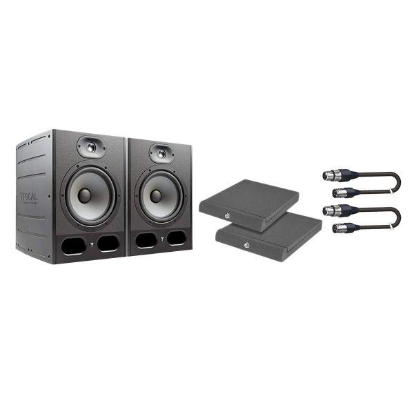 Focal Alpha 80 Kit - Coppia Monitor con Cavi e Pannelli Fonoassorbenti