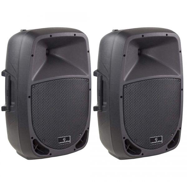 Go-Sound 15A Cassa Acustica (Coppia) Amplificata Attiva 880 Watt DJ karaoke