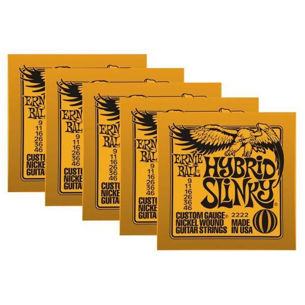 ERNIE BALL 2222 - Set di 5 Mute per Elettrica Hybrid Slinky (009/046)