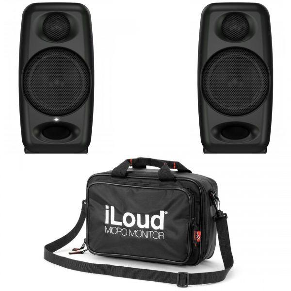 IK Multimedia iLoud Micro Monitor Black 50W (coppia) con Custodia
