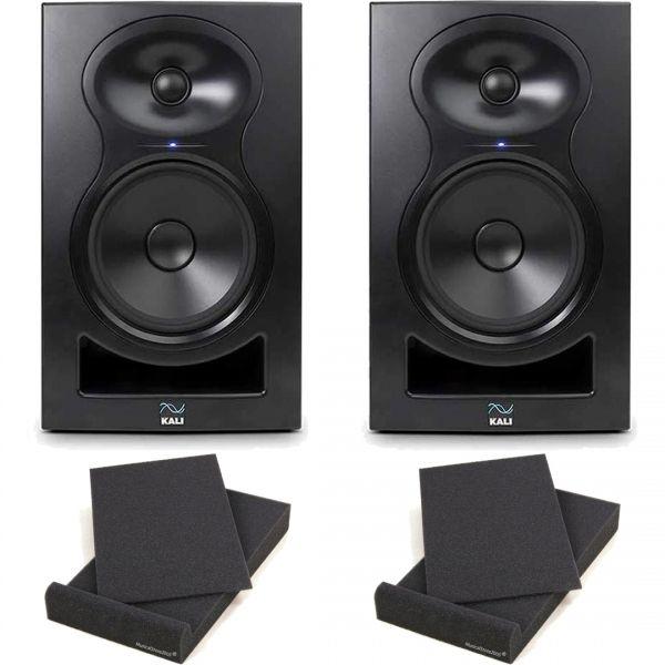 Kali Audio LP-6 Coppia Monitor Attive 80W 6,5 + 2 Pad Isolanti