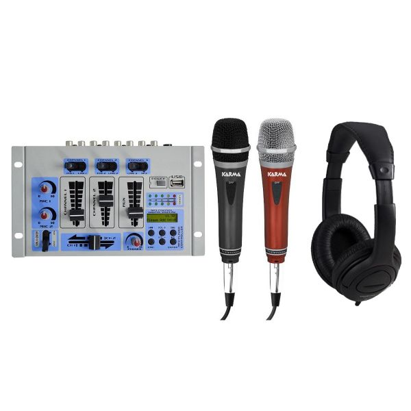 KARMA DJ Karaoke Mixer / Microfoni / Cuffia
