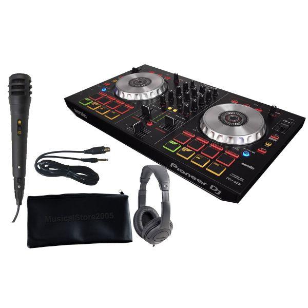 Pioneer DDJ SB 2 Bundle Microfono / Cuffia /Custodia