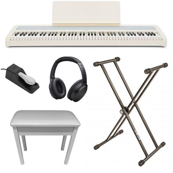 Korg B2 Bianco Home Set Pianoforte Digitale 88 Tasti con Accessori