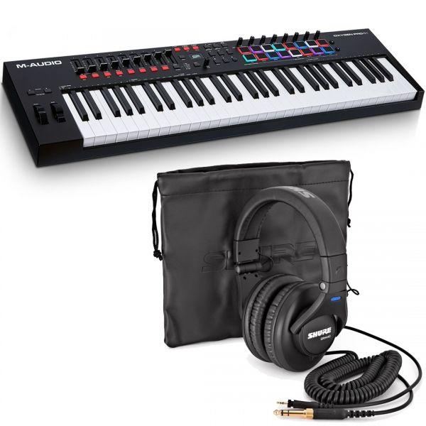 M-Audio Oxygen Pro 61 Bundle / Shure SRH440 Cuffie