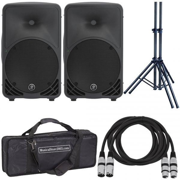 Mackie SRM 350 v3 (Coppia) - Casse Attive 1000W Impianto DJ Karaoke Amplificato