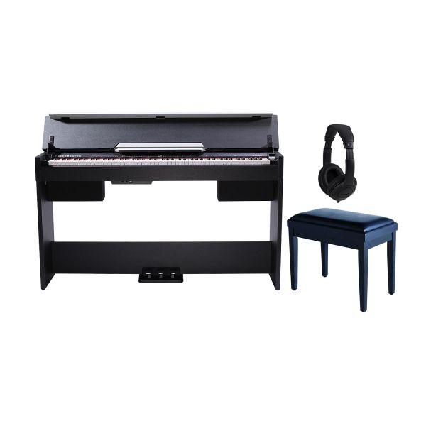Medeli CDP 5000 B Set - Pianoforte Digitale Nero / Panca / Cuffie