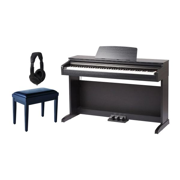 Medeli DP 260 Set - Pianoforte Digitale Nero / Panchetta / Cuffie