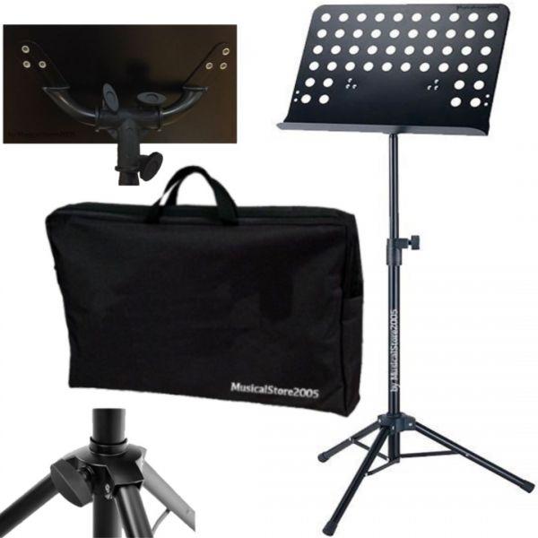 LG102 Leggio Musicale in Metallo, Orchestra spartiti con Borsa tipo Proel