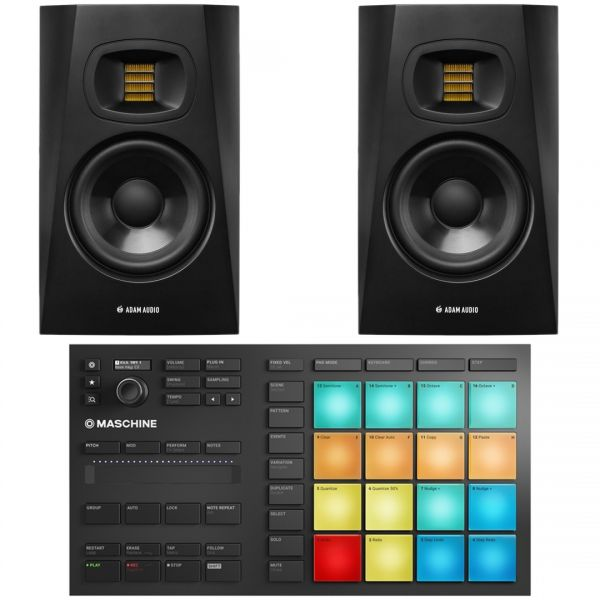 Native Instruments Maschine Mikro MKIII con Coppia Adam T5V, bundle ni2
