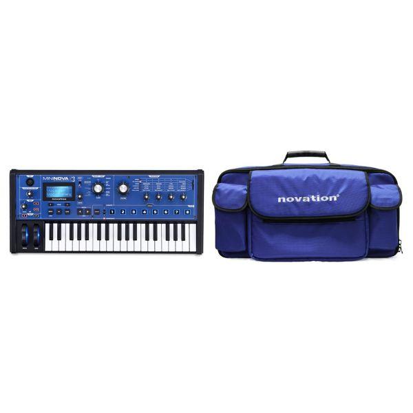 Novation MiniNova Pack - Synth Polifonico Digitale 37 Tasti con Gig Bag