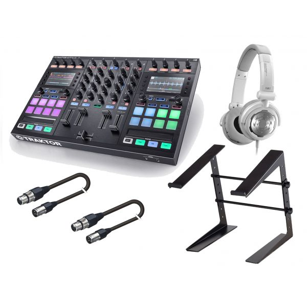 NATIVE INSTRUMENTS Traktor Kontrol S5 / Stand / Cuffia Denon DJ / Cavi Audio Bundle