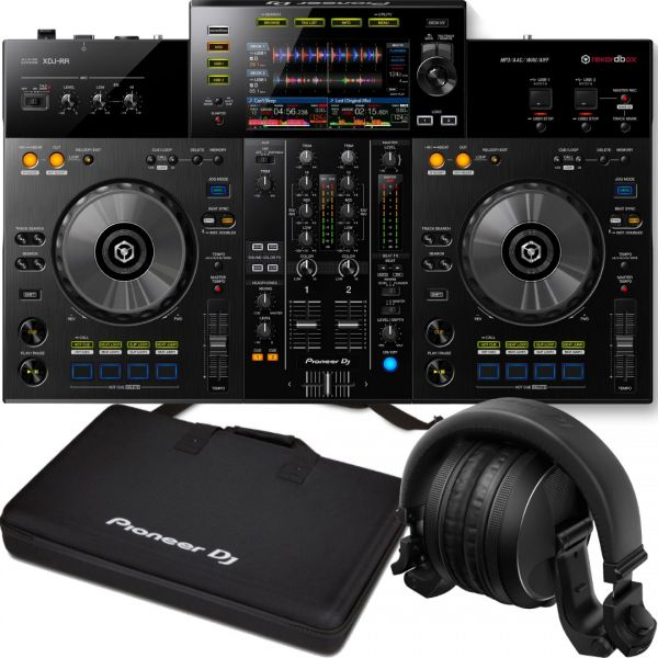 Pioneer XDJ-RR con Cuffie Bluetooth HDJ-X5BT-K e Borsa