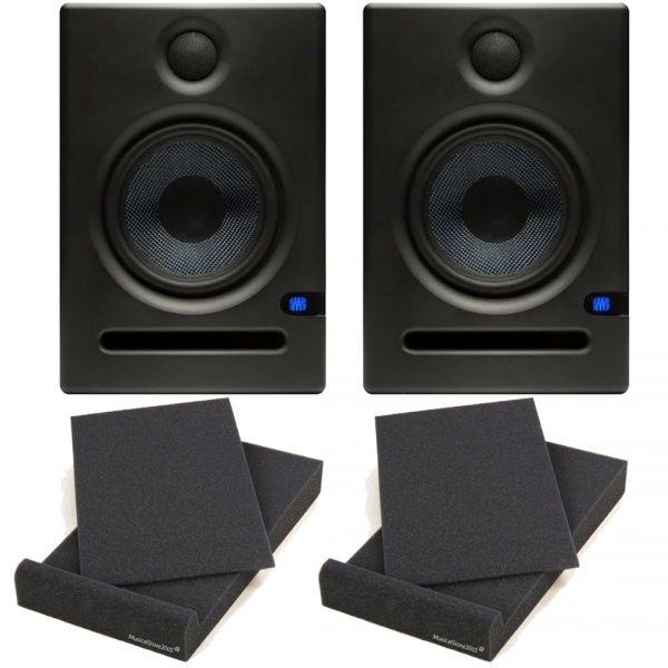 Presonus Eris E5 Monitor da Studio 70W (Coppia) + 2 Pad Isolanti