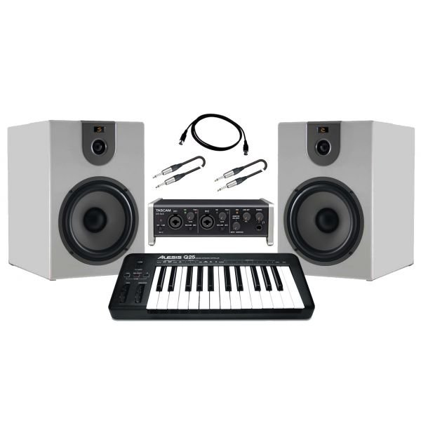 Producer Pack Beginner Scheda audio usb / Monitor da studio 360W / Controller midi Bundle