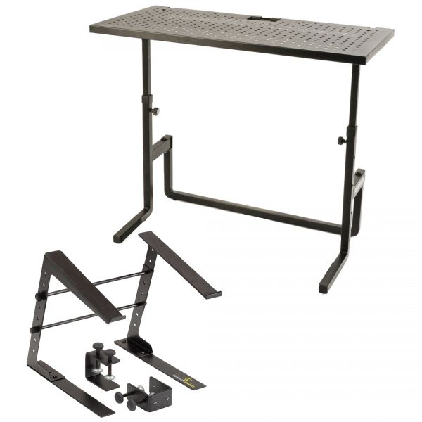 Quik Lok DJ233 Bundle Supporto per Mixer/Console DJ + Stand per Laptop