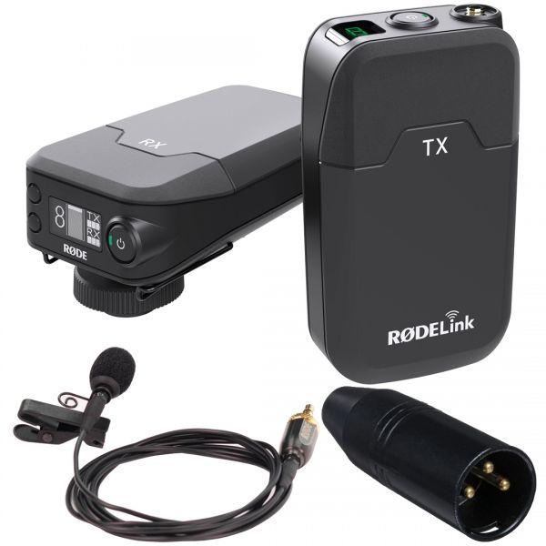 Rode Filmmaker Kit Sistema Microfono Lavalier/Ricevitore Digitale/Adattatore Jack
