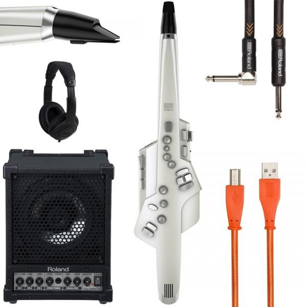 Roland AE 10 Bianco Bundle - Aerofono Digitale con Accessori