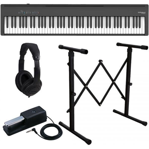 Roland FP-60X Black Pianoforte Digitale Portatile 88 Tasti con Stand e Cuffia