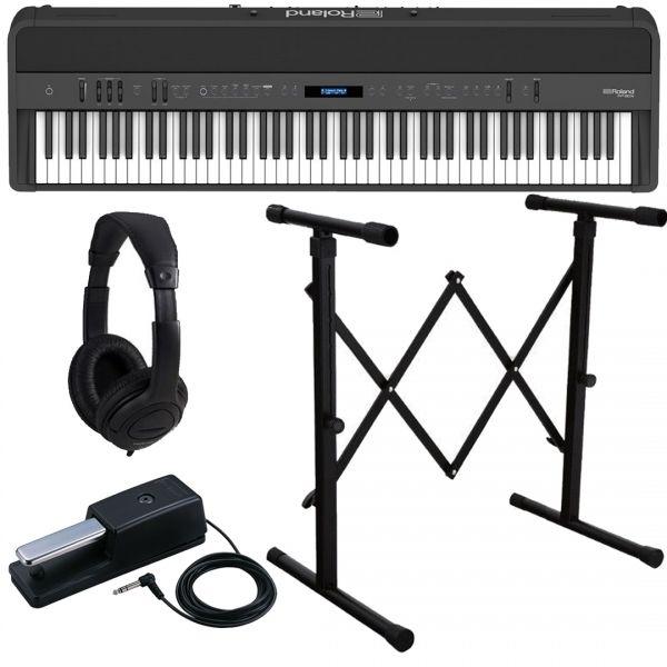 Roland FP-90X Black Pianoforte Digitale Portatile 88 Tasti con Stand e Cuffia
