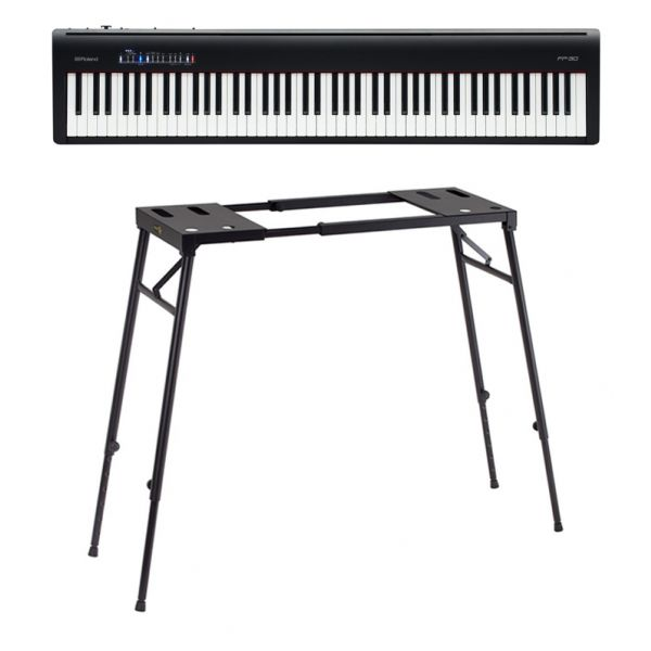 Roland FP30 BK Pack - Pianoforte Digitale con Supporto