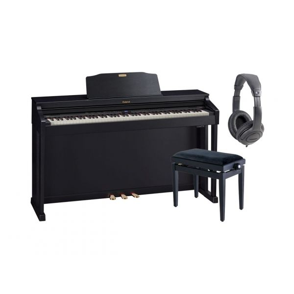 ROLAND HP504 CB Pianoforte Digitale, Mobile / Cuffie Monitor / Panchetta