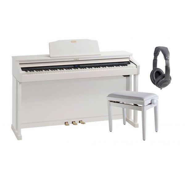 ROLAND HP504 WH Pianoforte Digitale Bianco, Cuffie Monitor, Panchetta