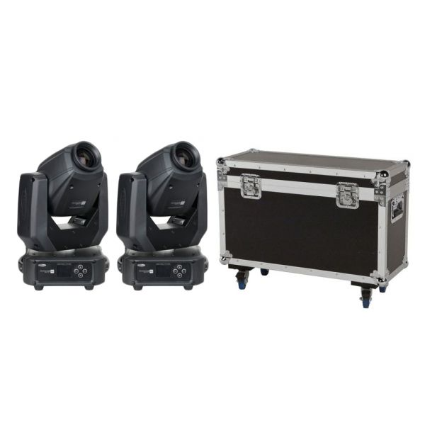 Showtec Phantom 65 Spot (Coppia) Testa Mobile a led con Flight Case