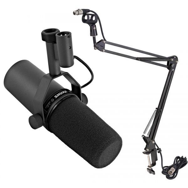 Shure SM7B Microfono da Studio con Asta Microfonica da Tavolo