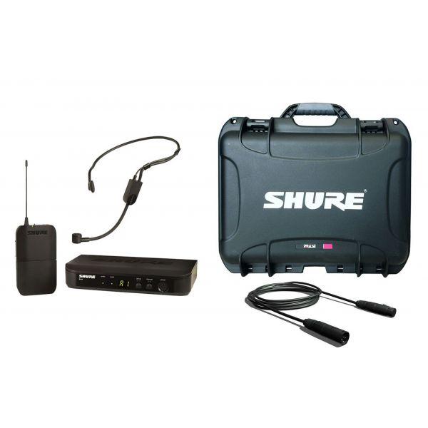SHURE BLX14E/P31 Set Radiomicrofono ad Archetto, Valigetta e Cavo