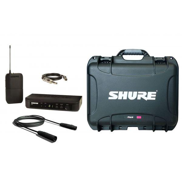 SHURE BLX14E Pack Wireless Chitarra/Basso, Custodia e Cavi