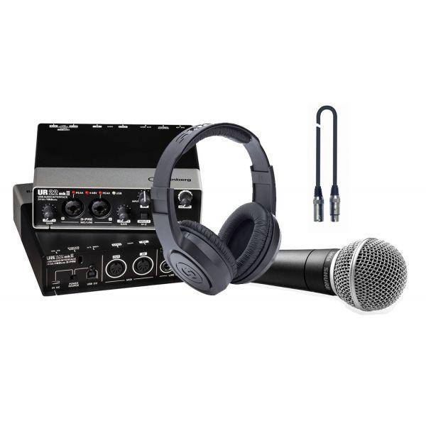 Steinberg UR22 MK2 Kit Scheda Audio Microfono Shure SM58 Cuffie Cavo