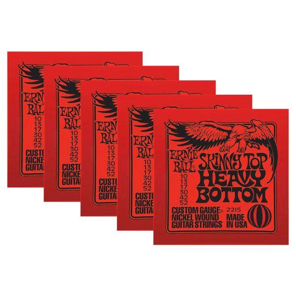 ERNIE BALL 2215 - Set di 5 Mute per Elettrica Skinny Top Heavy Bottom (010/052)