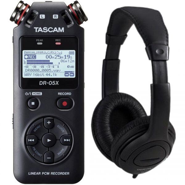 Tascam DR 05X Pack - Registratore Digitale Palmare / Cuffie