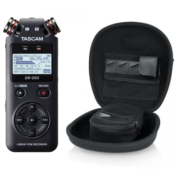Tascam DR 05X Pack - Registratore Digitale Palmare con Custodia
