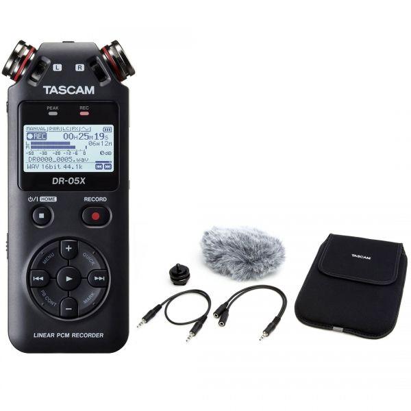 Tascam DR 05X Pack - Registratore Digitale Palmare con Accessori PRO
