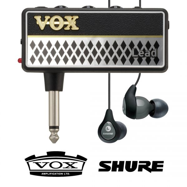 Vox Amplug 2 Lead con Shure SE112 Grigi