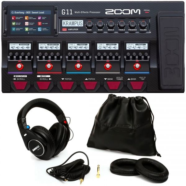 Zoom G11 Bundle Pedaliera Multieffetto con Shure SRH840 Cuffie Monitor