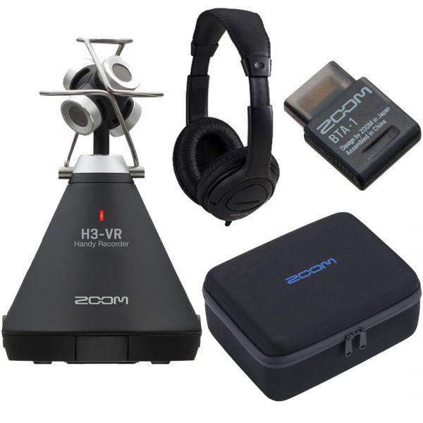 Zoom H3 VR Bundle Registratore / Adattatore Bluetooth /Custodia / Cuffie