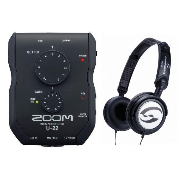 Zoom U22 Pack - Interfaccia Audio USB con Cuffie
