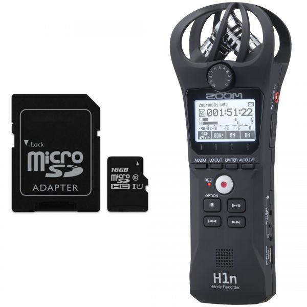 Zoom H1n Nero - Registratore Digitale con Scheda microSD 16 GB