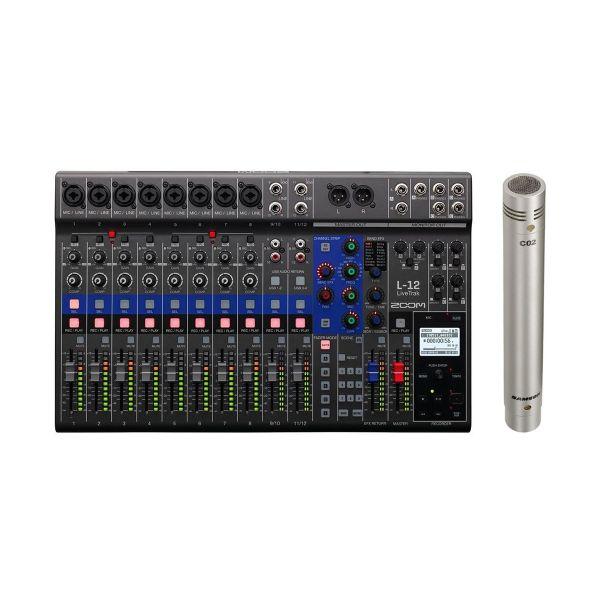 Zoom LiveTrak L12 con Microfono Pencil Samson C02