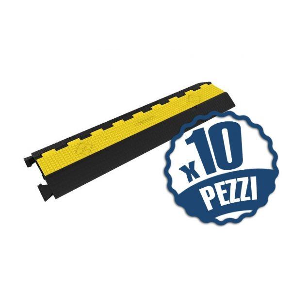 10 x Pedane Passacavo 2 Canali (95x25x5cm)