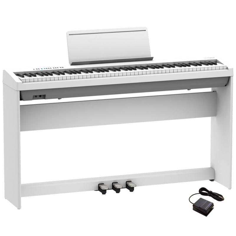 Roland FP-30X Bianco Pianoforte Digitale Portatile 88 Tasti con Stand e Pedaliera
