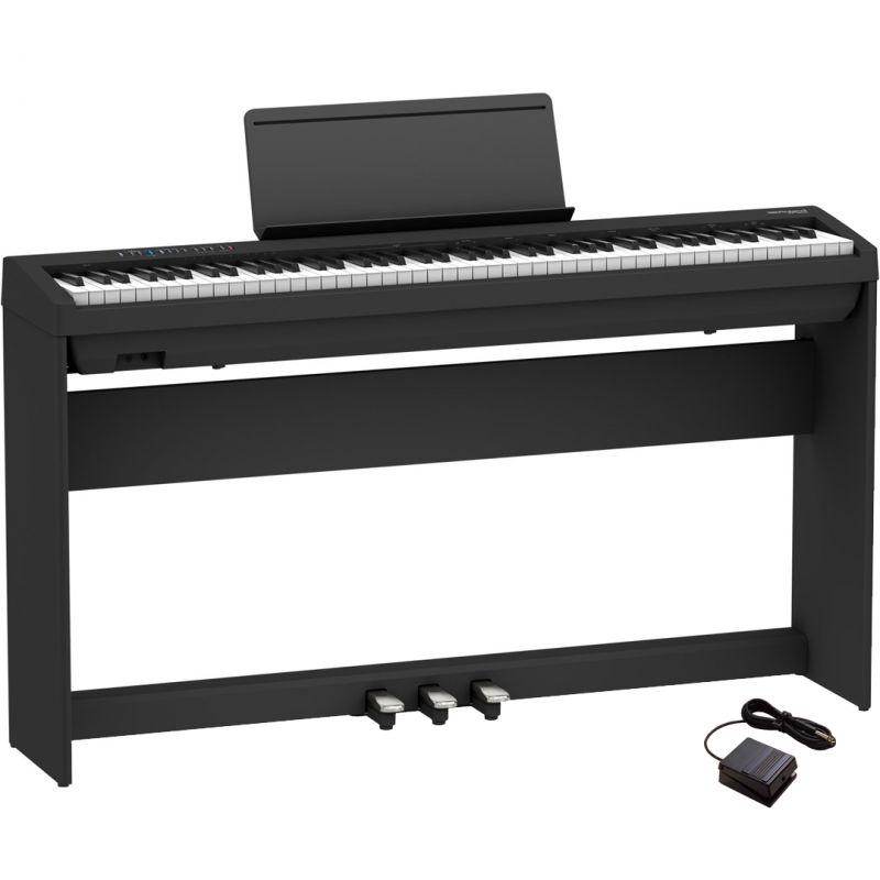 Roland FP-30X Nero Pianoforte Digitale Portatile 88 Tasti con Stand e Pedaliera