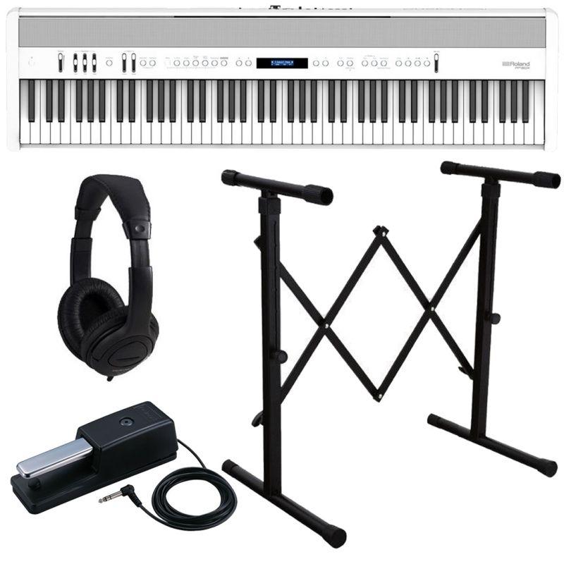 Roland FP-60X White Pianoforte Digitale Portatile 88 Tasti con Stand e Cuffia