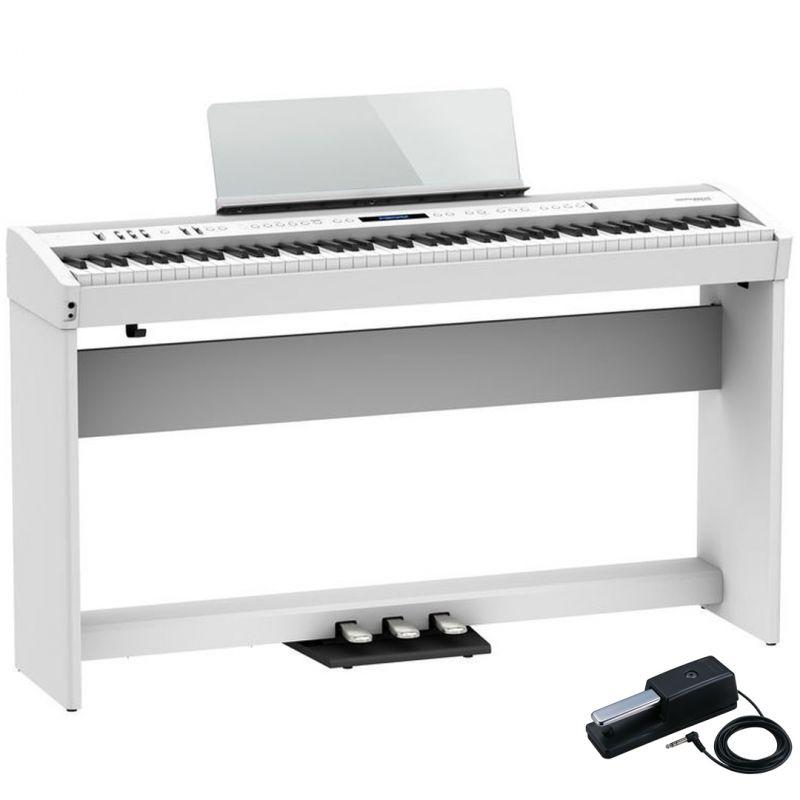 Roland FP-60X Bianco Pianoforte Digitale Portatile 88 Tasti con Stand e Pedaliera