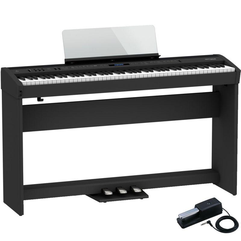 Roland FP-60X Black Pianoforte Digitale Portatile 88 Tasti con Stand e Pedaliera