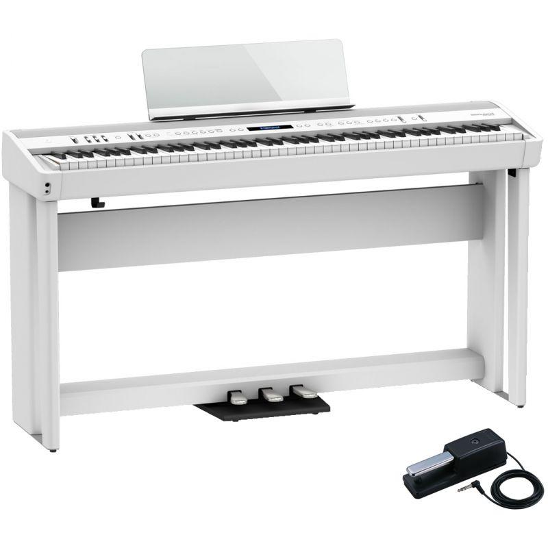 Roland FP-90X Bianco Pianoforte Digitale Portatile 88 Tasti con Stand e Pedaliera